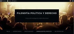 Filosofía política y derecho Grupo de investigación interinstitucional